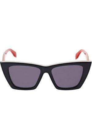 Alexander McQueen Selvedge Cat-eye Acetate Sunglasses