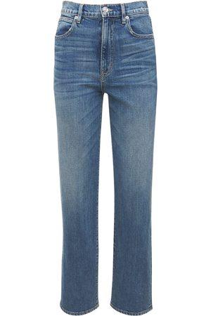 SLVRLAKE Women High Waisted - London High Waist Straight Leg Jeans