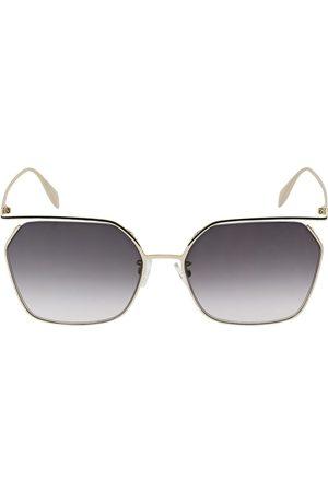 Alexander McQueen Women Sunglasses - The Cut Squared Metal Sunglasses