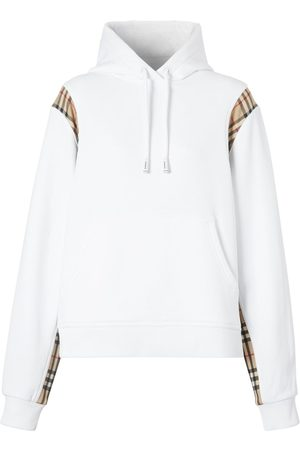 Burberry Women Hoodies - Checker Cotton Jersey Sweatshirt Hoodie