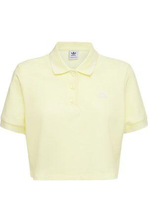 adidas Cropped Cotton Blend Polo