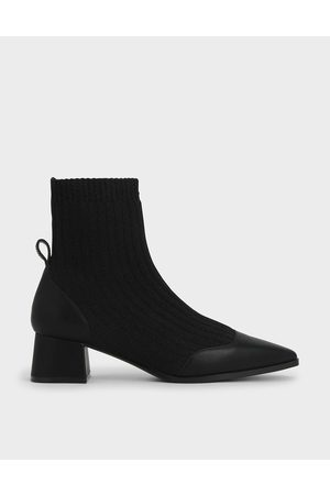 CHARLES & KEITH Knit Ankle Sock Boots
