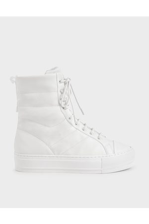 CHARLES & KEITH Quilted High Top Sneakers