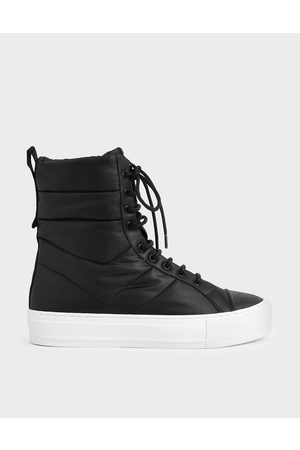 CHARLES & KEITH Women Sneakers - Quilted High Top Sneakers