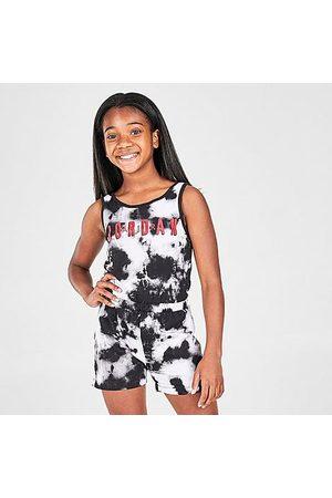 Jordan Girls Tank Tops - Girls' Tie-Dye Tank Top Romper in /