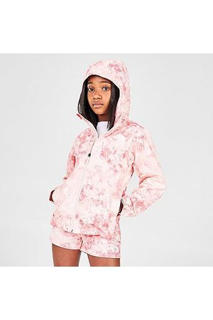 The North Face Inc Girls Rainwear - Girls' Zipline Rain Jacket in /Pearl Blush Rock Candy Size Small Nylon/Polyester