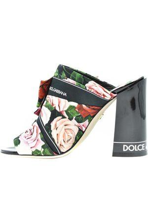 Dolce & Gabbana Floral print Block Heel Mules Size EU 36