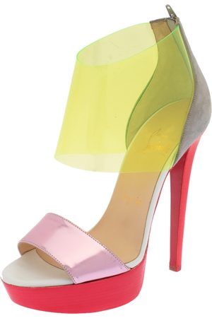 Christian Louboutin Leather And PVC Dufoura Platform Sandals Size 36