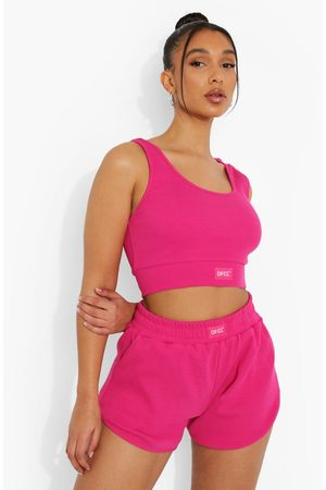 Boohoo Womens Ofcl Ribbed Gym Shorts - - 4