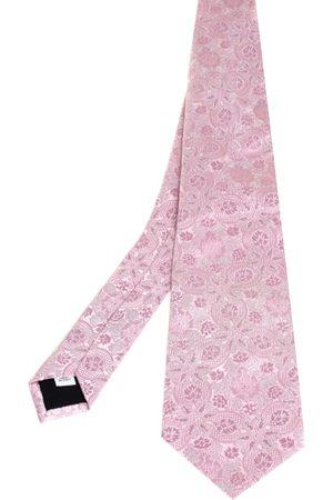 VALENTINO Men Neckties - Floral Jacquard Silk Tie