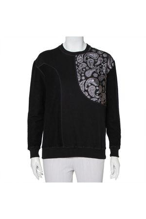 Stella McCartney Cotton Knit Paisley Jacquard Patch Detail Sweatshirt S