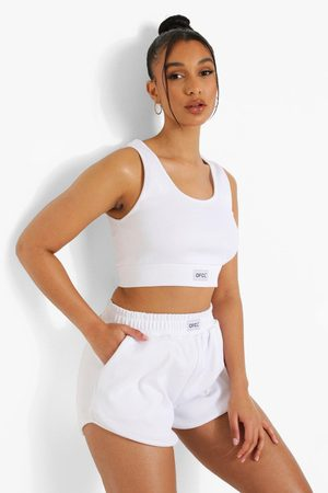 Boohoo Womens Ofcl Ribbed Gym Shorts - - 4