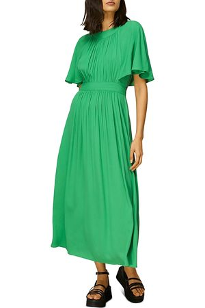 Whistles Amelia Cape Sleeve Midi Dress