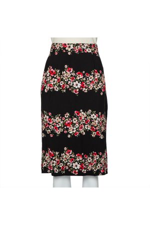 Dolce & Gabbana Floral Printed Crepe Pencil Skirt L