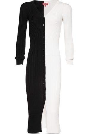 Staud Women Casual Dresses - Shoko Color Block Ribbed Sweater Dress