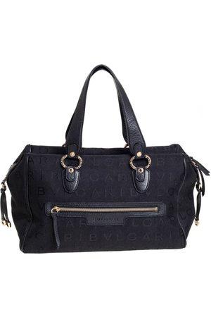 Bvlgari Women Purses - Logo Mania Canvas and Leather Boston Duffel Bag