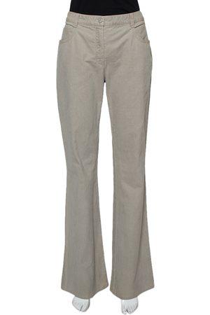 CHANEL Grey Denim Flared Leg Jeans L