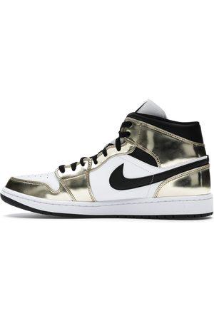 Nike Jordan 1 Mid Metallic Gold White Sneakers Size EU 46 (US 12)