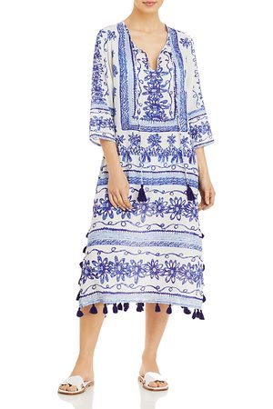 Echo Women Tunic Dresses - Sketchy Scroll Tunic Dress