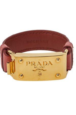 Prada Women Bracelets - Ostrich Gold Tone Bracelet 17 cm