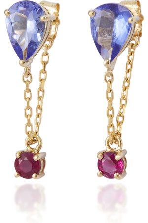 Yi Collection Women's 18K Gold And -Stone Chain Earrings - - Moda Operandi