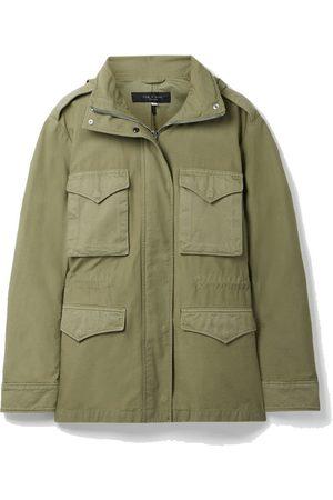 RAG&BONE Field M65 hooded twill-trimmed cotton-canvas jacket