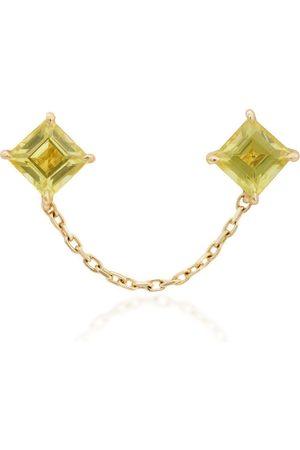 Yi Collection Women Earrings - Women's 18K And Sapphire Chain Earring - - Moda Operandi