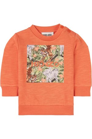 Kenzo Kids - Jungle Print Box Logo Sweatshirt - Boy - 6 months - - Sweatshirts
