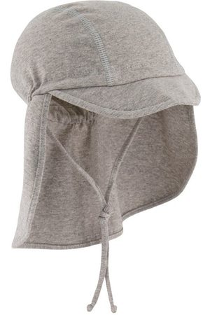 MP Hats - Kids - Sami Cap With Neck Shade Grey Melange - Unisex - 47 cm - Grey - Sun hats