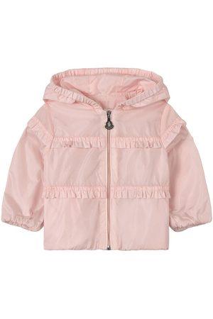 Moncler Girls Sports Jackets - Kids - Hiti Branded Hooded Windbreaker - Girl - 9-12 months - - Windbreakers