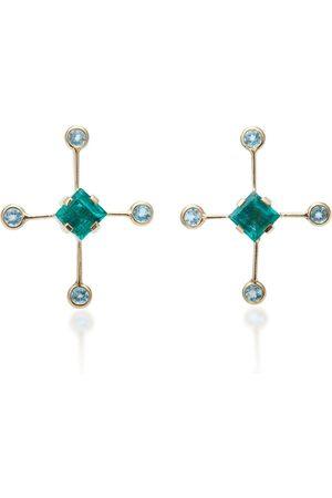 Yi Collection Women's 14K Gold And Multi-Stone Supernova Earrings - - Moda Operandi