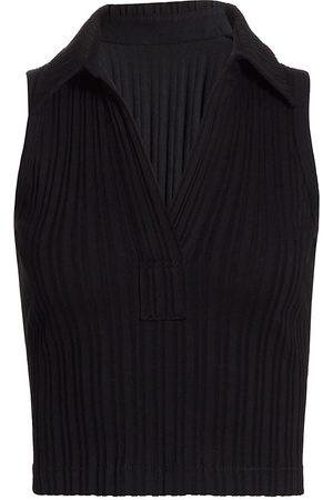 Helmut Lang Women's Cropped Polo Top - - Size XS