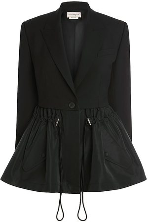 Alexander McQueen Women's Parka Peplum Jacket - - Size 8
