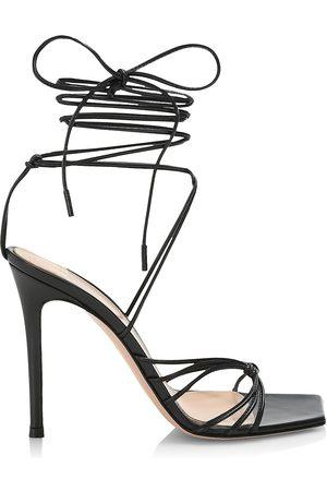 Gianvito Rossi Women's Ankle-Wrap Leather Stilleto Sandals - - Size 11