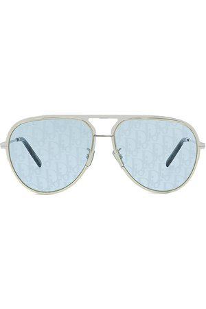 Dior Men Aviators - Men's Essential 60MM Metal Aviator Sunglasses - Shiny Palladium