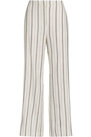 NIC+ZOE Women's Grapefruit Stripe Wide-Leg Pants - Neutral Multi - Size 4
