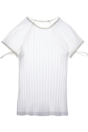 Helmut Lang Women's Rib-Knit Cotton T-Shirt - - Size Large
