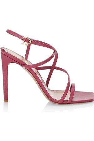 Gianvito Rossi Women's Crisscross Strap Leather Stillleto Sandals - Hibiscus - Size 11.5