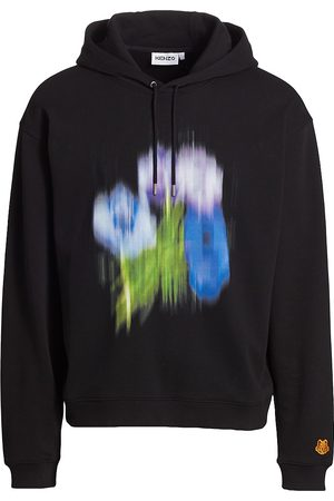Kenzo Men's Abstract Floral Hoodie - - Size XL