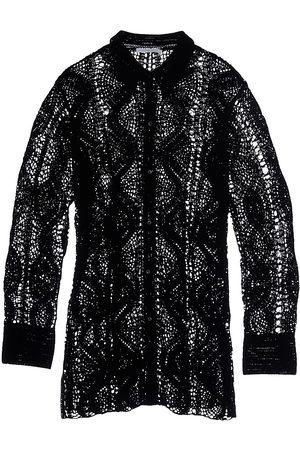 Helmut Lang Women's Crochet Shirt - - Size Large