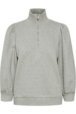 Gestuz Women's Nankita Puff Sleeve Sweatshirt - Light Grey Melange - Size XS