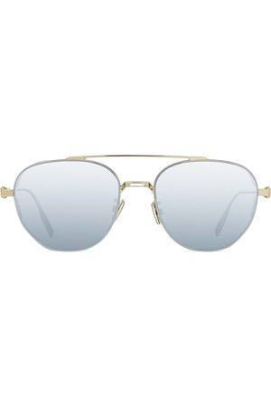 Dior Men's Neo 56MM Mirred Metal Round Aviator Sunglasses - Smoke