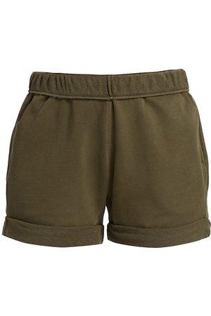 Frame Women Sports Shorts - Women's Rolled-Cuff Organic Cotton Shorts - Washed Moss - Size XS