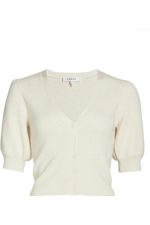 Frame Women Denim - Women's Jocelyn Puff-Sleeve Cardigan - Off - Size Small