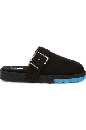 OFF-WHITE Men's Comfort Leather Buckle Slippers - - Size 10