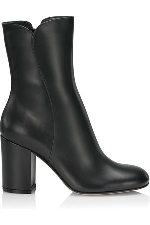 Gianvito Rossi Women's Vitello Leather Ankle Boots - - Size 9