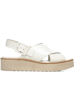 Vince Women's Zena Leather Platform Sandals - Off - Size 8