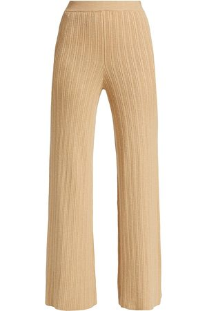 JONATHAN SIMKHAI Women's Colbie Rib Bell Bottom Pants - - Size Medium