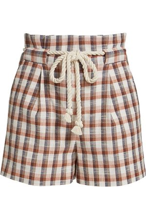 VERONICA BEARD Women's Salika Check Shorts - Size 2