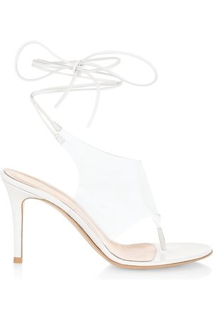 Gianvito Rossi Women Sandals - Women's Ankle-Wrap Thong Sandals - - Size 9.5